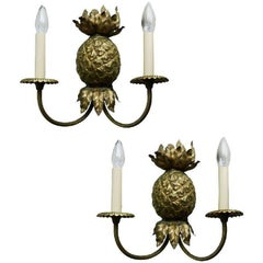 Maison Charles Pineapple Bronze Sconces. 3 pairs availble.priced by pair