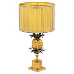 Maison Charles, Pineapple Lamp in Bronze, 1960's