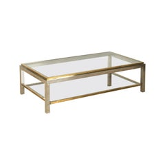 Maison Charles Signed Two Tier Coffee Table