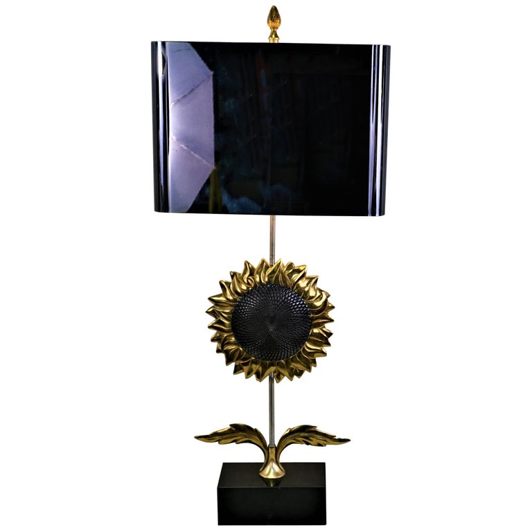 Maison Charles, Sunflower Table Lamp For Sale