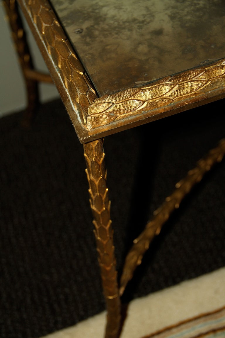 Maison Charles, Very Elegant Bronze Coffee Table, 1950 In Good Condition For Sale In Encino, CA