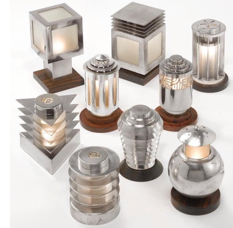 Maison Desny Rare Silver Modernist Menorah French Art Deco For Sale 8