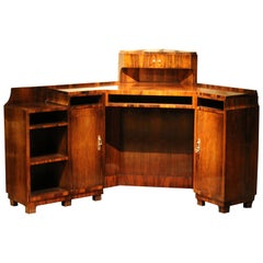 Maison Dominique Domin, Genevriére Art Deco Veneer Writing Desk or Vanity Table