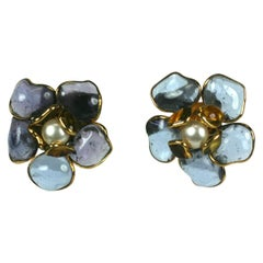 Maison Gripoix Flower Earrings