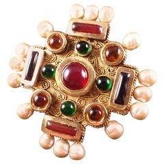 Maison Gripoix for Chanel Byzantine Cruciform Cuff Bracelet