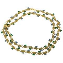 Maison Gripoix for Chanel Long Ornate Byzantine Chain