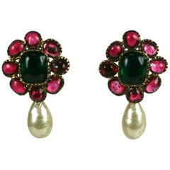 Maison Gripoix for Chanel Renaissance Style Earrings