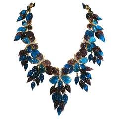 Maison Gripoix for Yves Saint Laurent Butterfly Bib Necklace