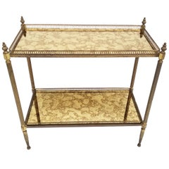 Maison Jansen 2-Tier French Neoclassical Brass Side Table