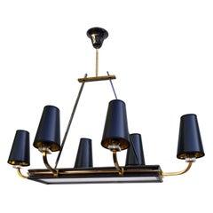 Maison Jansen 8 Lights Chandelier, Pair Available
