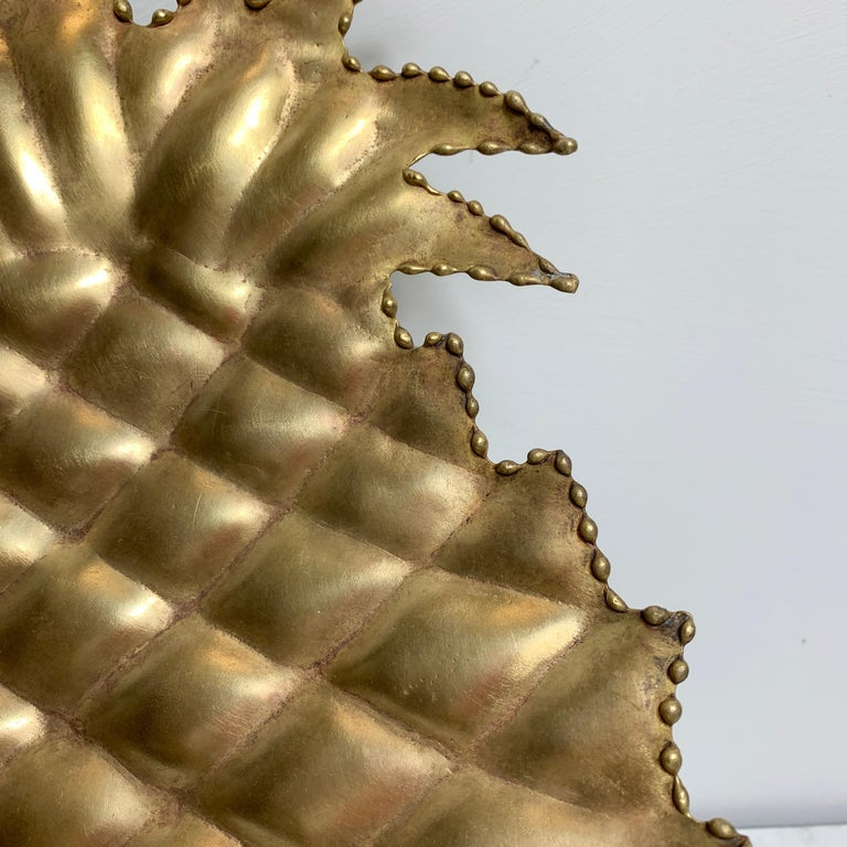 Maison Jansen Attributed Brass Pineapple Dish, 1970s For Sale 2