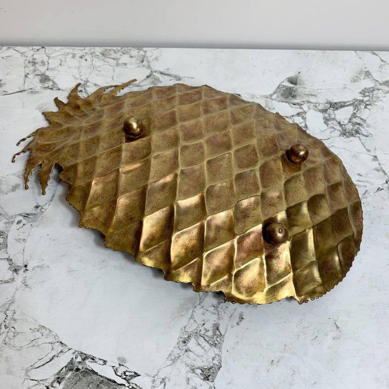 Maison Jansen Attributed Brass Pineapple Dish, 1970s For Sale 3