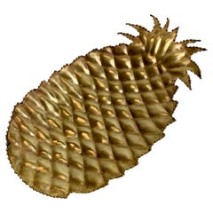Maison Jansen Attributed Brass Pineapple Dish, 1970s