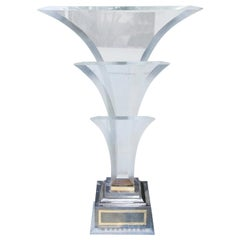 Maison Jansen Bicolor Hollywood Regency Style Lucite Fontaine Table Lamp