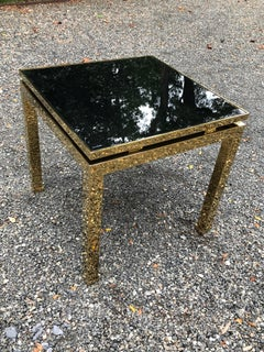 Maison Jansen Brass and Glass MCM French Occasional Side Table