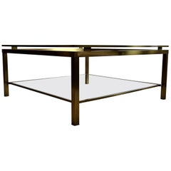 Brass Hollywood Regency Coffee Table