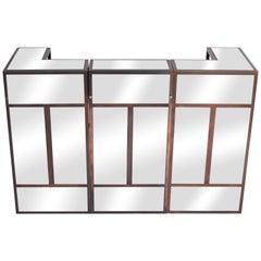 Maison Jansen Brass Mirrored Dry Bar Units