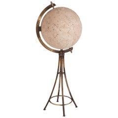Maison Jansen Brass 'Moon' Globe Bar