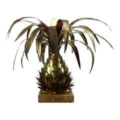 Maison Jansen Brass Pineapple Table Lamp, 1960s