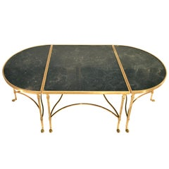 Maison Jansen Bronze and Marble Tripartite Cocktail Table