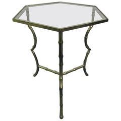 Maison Jansen Bronze Faux Bamboo Table