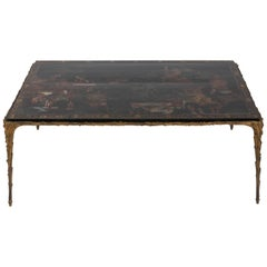 Maison Jansen Coffee Table with 18th Century Chinese Panel