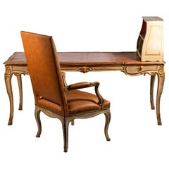 Maison Jansen, Desk and Armchair, circa 1960, France