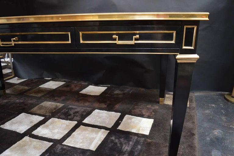Louis XVI Maison Jansen Ebonized Desk For Sale