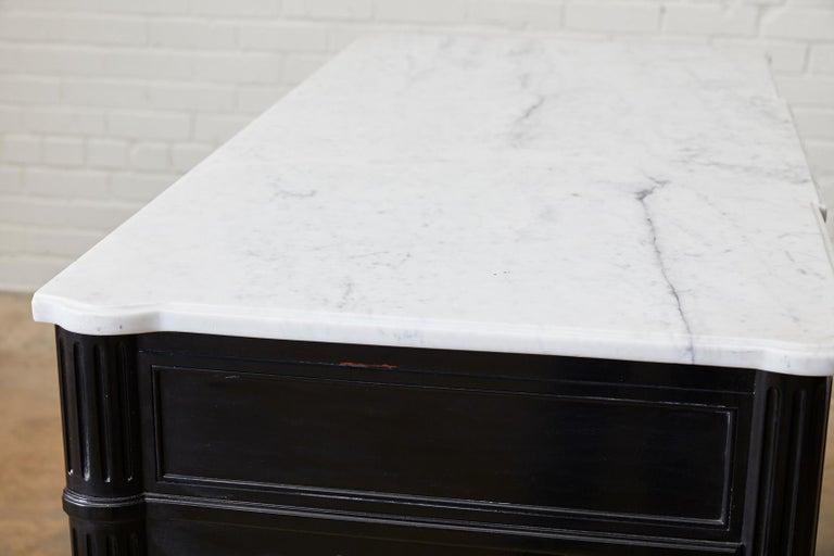 Maison Jansen Ebonized Marble Top Commode Escritoire For Sale 10
