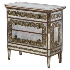 Maison Jansen Eglomisé Three Drawer Chest/ Dresser