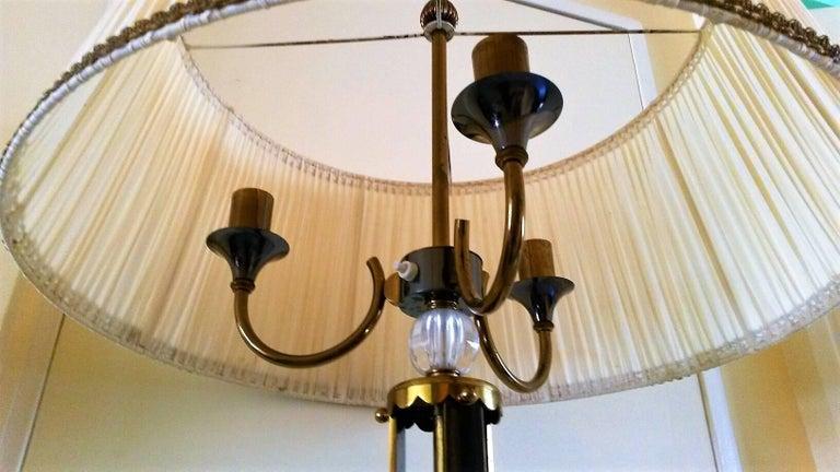 Maison Jansen Floor Lamp in Bronze and Cristal de Sèvres, France, 1950 For Sale 2