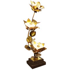 Maison Jansen Flower Lamp, 1970s