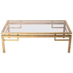 Maison Jansen Glass Coffee Table, circa 1950