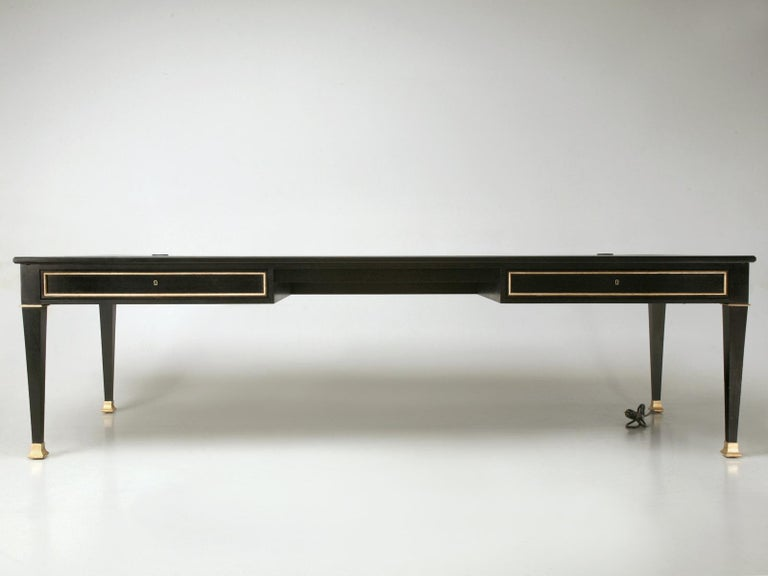 Maison Jansen Inspired French Louis XVI Ebonized Desk Available in Any Dimension In New Condition For Sale In Chicago, IL