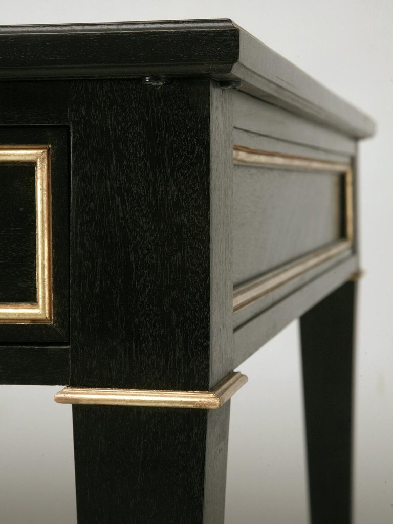 Mahogany Maison Jansen Inspired French Louis XVI Ebonized Desk Available in Any Dimension For Sale