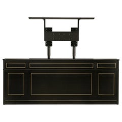Maison Jansen Inspired Louis XVI Style TV Lift Console in an Ebonized Mahogany