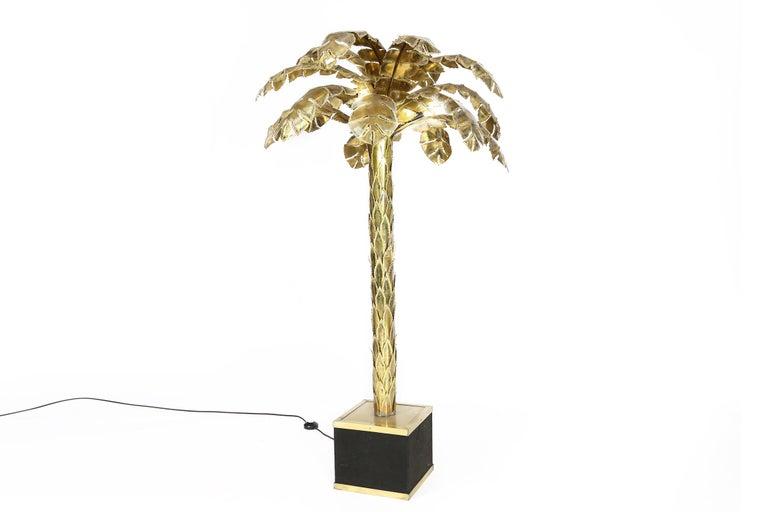 Maison Jansen Große Messing Palmen Stehlampe, 1970er Jahre 2