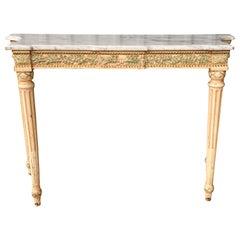Maison Jansen Louis XVI Style Marble-Top Console Table