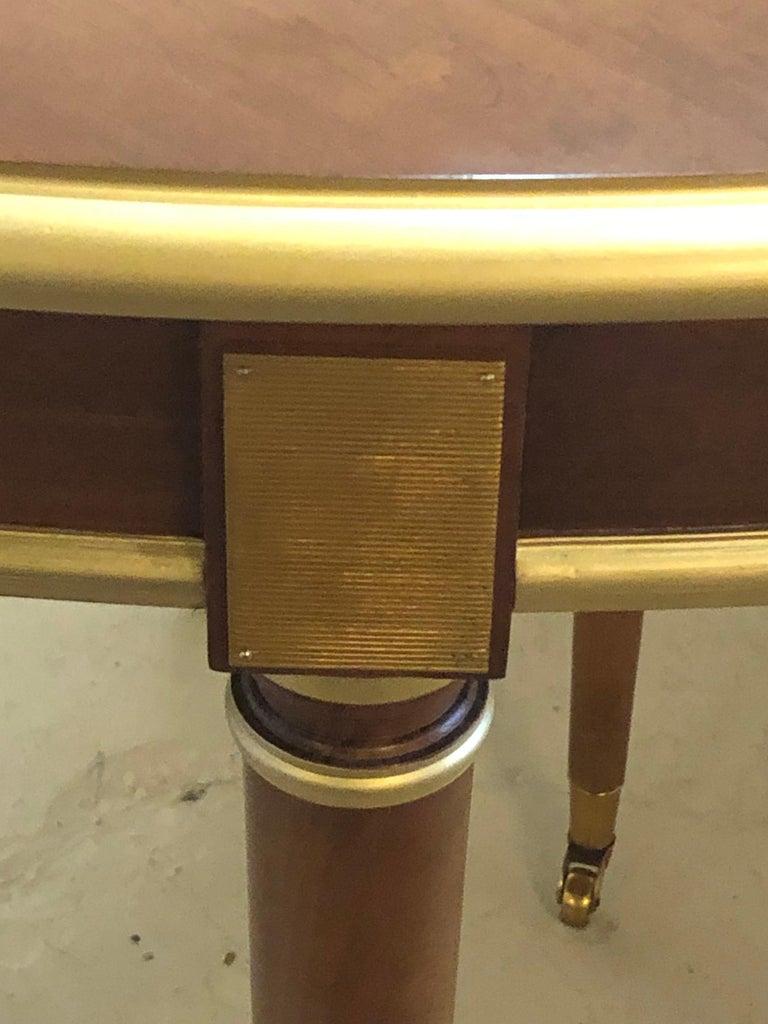 Maison Jansen Mahogany Louis XVI Style Circular Dining Table For Sale 4