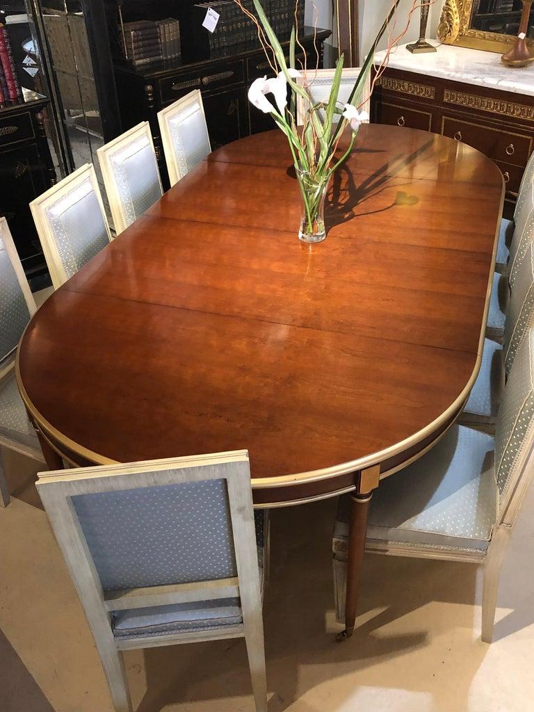 Maison Jansen Mahogany Louis XVI Style Circular Dining Table For Sale 7