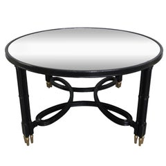 Maison Jansen Mirrored Top Coffee Table
