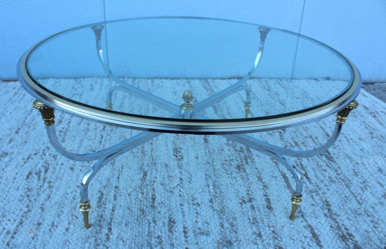 Late 20th Century Maison Jansen Modern Coffee Table For Sale