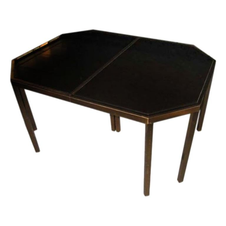 Maison Jansen Octagonal Dining Table with Extension For Sale