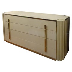 Maison Jansen Off-White Chest of Drawers Designed by Alain Delon, Cinema Star