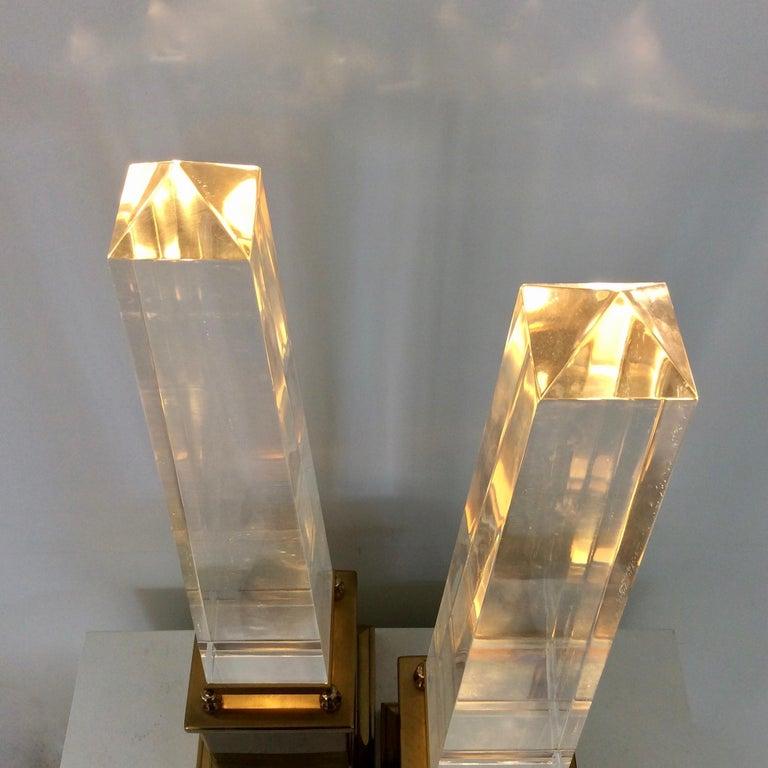 Maison Jansen Pair of Obelisk Table Lamps, circa 1970, France 2