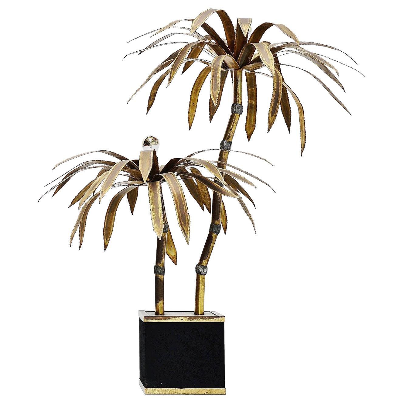 Maison Jansen Palm Tree Floor Lamp, France, 1970