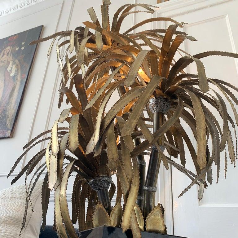 Maison Jansen Palm Tree Lamp, 1970s For Sale 2