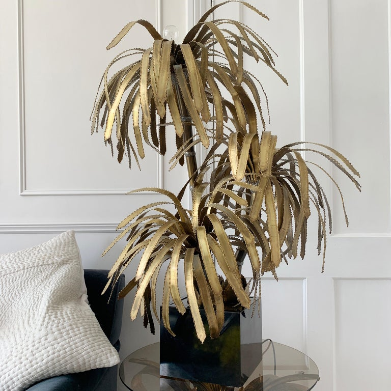 Maison Jansen Palm Tree Lamp, 1970s For Sale 3