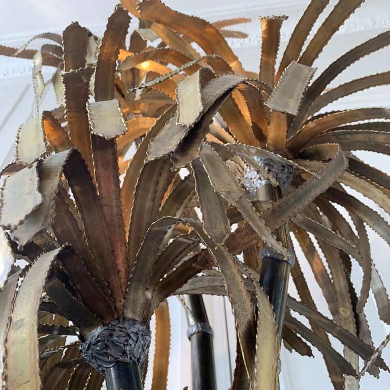 Maison Jansen Palm Tree Lamp, 1970s For Sale 4
