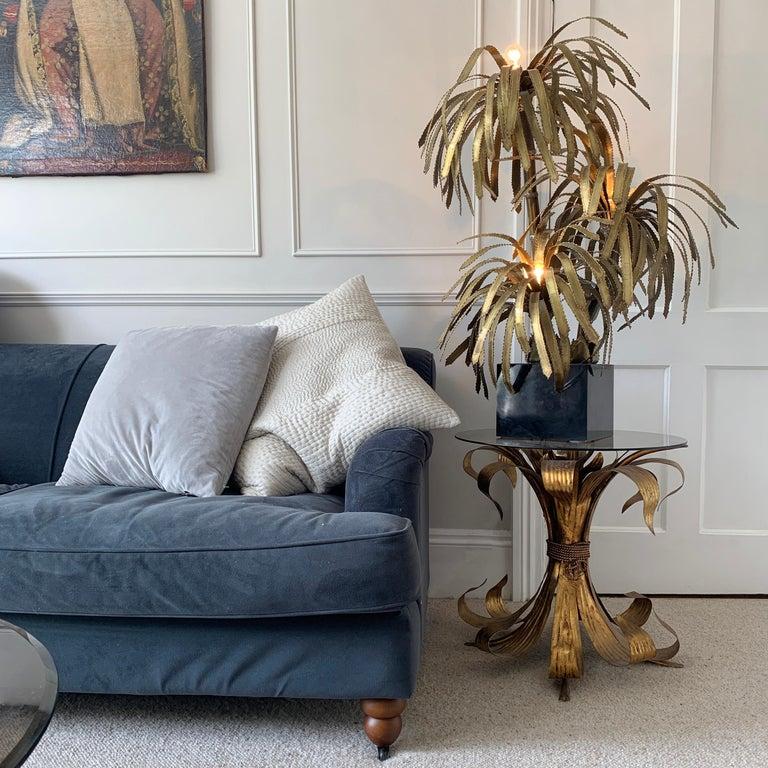 Mid-Century Modern Maison Jansen Palm Tree Lamp, 1970s For Sale